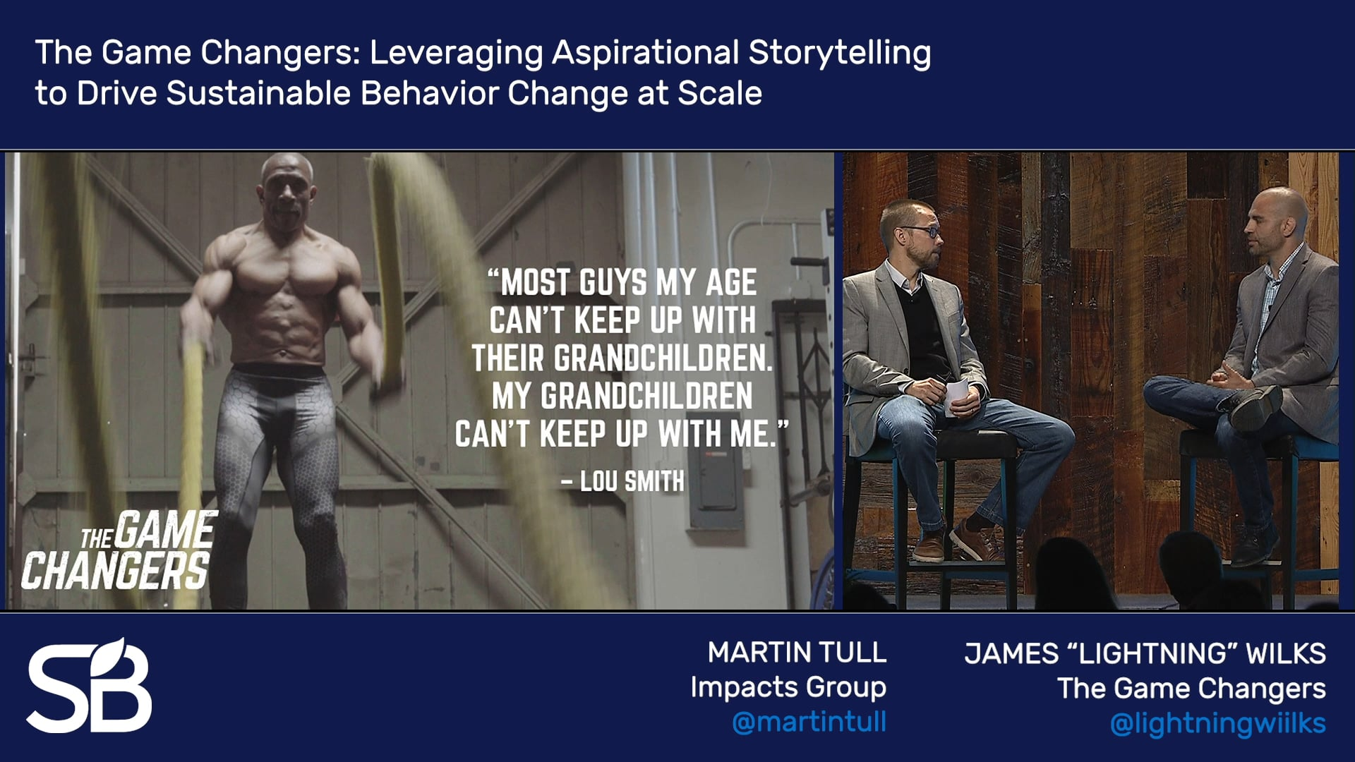 SB'18 Vancouver Keynote / The Game Changers: Leveraging Aspirational Storytelling to Drive Sustainable Behavior Change at Scale