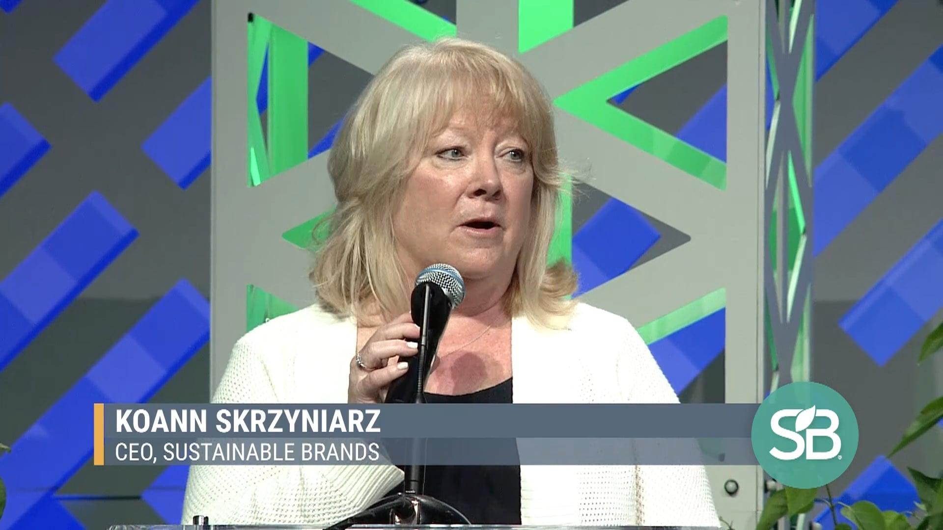 SB'19 Detroit Keynote / KoAnn Skrzyniarz - CEO, Sustainable Brands