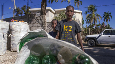 HP Inc., Thread Roll Out Ink Cartridges Made from Plastic Bottles Recycled in Haiti