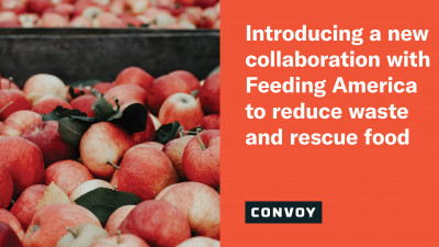 A new sustainability program with Feeding America to reduce waste and rescue food from supply chains
