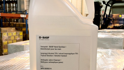 BASF manufactures and donates hand sanitizer to support the fight against COVID-19 in Canada