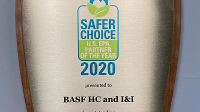 BASF honored with the 2020 Safer Choice Partner of the Year award