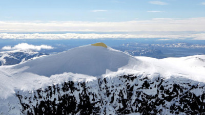 Artists Covered Sweden's Tallest Peak with a Blanket to Help Slow Glacial Melting