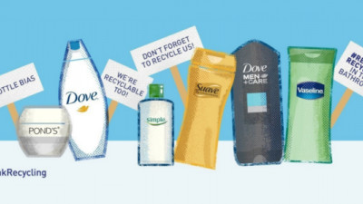 Unilever, J&J Campaigns Aim to 'End Bottle Bias,' Boost Bathroom Recycling