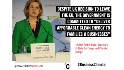 Businesses Urge Paris Agreement Ratification, UK Affirms Commitments at Business & Climate Summit