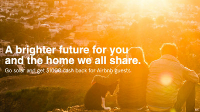 Airbnb, SolarCity Partner to Incentivize Members to Switch to Clean Energy