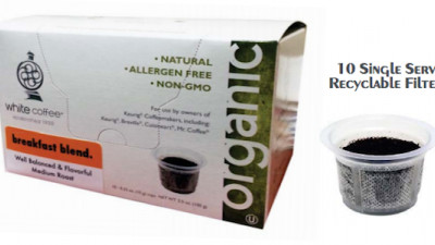 White Coffee Introduces Organic Coffee in Biodegradable, Compostable Single-Serve BioCup