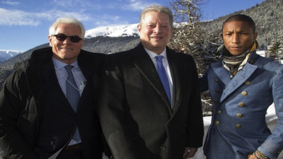 Al Gore, Pharrell Williams Talk Climate Change at WEF Annual Meeting