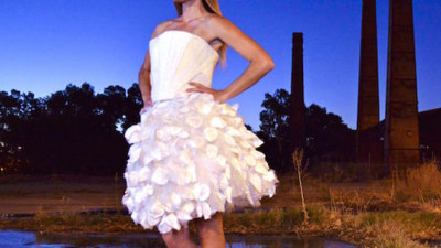 Trending: Plastic Hotel Sheets and a Dress Made from Beer … the Latest in Sustainable Textiles