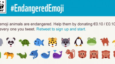 WWF Turning Tweets to Donations with #EndangeredEmoji Twitter Campaign