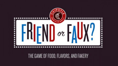 Chipotle Continues Effort to Educate Consumers on What's in Their Food with 'Friend or Faux'
