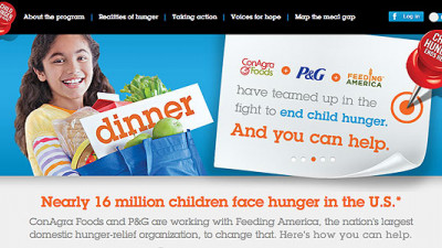 Rivals ConAgra, P&G Join Forces to Help End Child Hunger in America