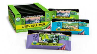 Carrington Co. Launches First-Ever Organic Tea in Biodegradable Packaging