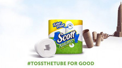 Scott Brand Launches Tube-Free Toilet Paper, Invites People to #TossTheTube