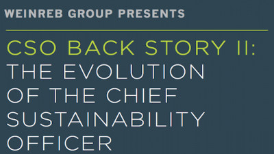 Report: Chief Sustainability Officers Expanding from Tactical Executors to Strategic Lynchpins