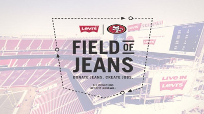 Levi's, 49ers Collaborate to Reduce Waste with 'Field of Jeans'