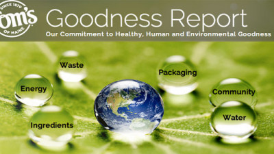 Tom's of Maine Shares Sustainability Goals, Progress in New 'Goodness Report'