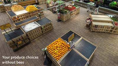 Rhode Island Whole Foods' Produce Display Urges Consumers to Help Preserve Pivotal Pollinators