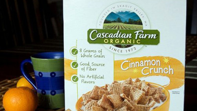 Cascadian Farm Launches First Bio-Based Cereal Box Liner