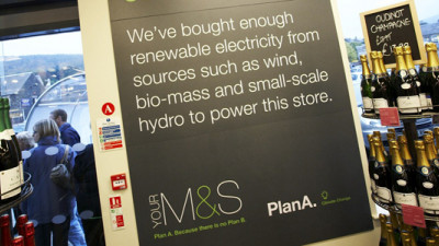 M&S the First of Few Companies That Come to UK Consumers' Minds as Being Environmentally Responsible