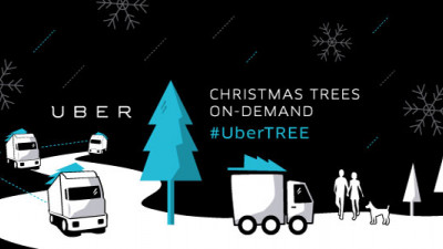 Uber Spreading Holiday Cheer with Christmas Tree Delivery