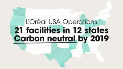 L'Oréal USA Announces Innovative Approach to Achieve Carbon Neutrality for its Operations Facilities by 2019