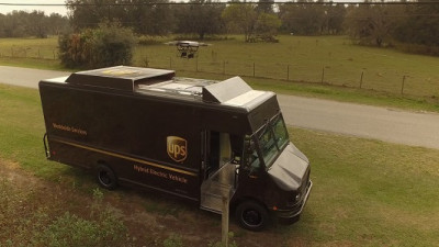 UPS Tests Residential Delivery Via Drone Launched From Atop Package Car