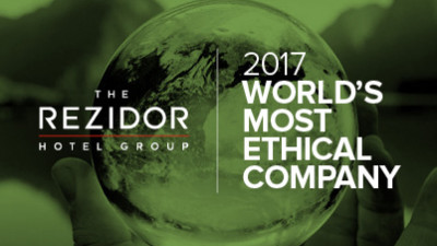 The Rezidor Hotel Group named 2017 World's Most Ethical Hotel Company by the Ethisphere Institute for the 8th time