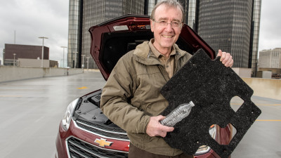 GM Recycles Water Bottles to Make Chevy Equinox Part
