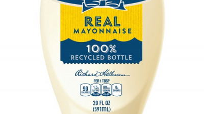 Unilever: Hellmann's Commits to Using Recycled Plastic Packaging in Over 200 Million Bottles and Jars by 2020