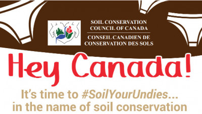 New Campaign Encourages Canadians to 'Soil Their Undies' for Soil Conservation
